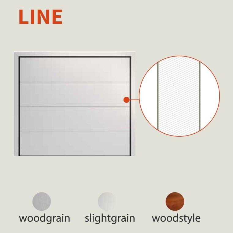 דוגמאת line שער חשמלי למוסך