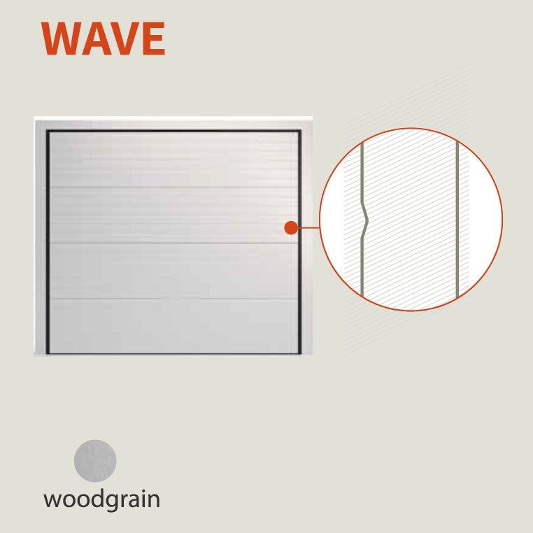 גימור wave לדלת חשמלית למוסך פרטי